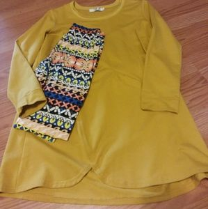 Other - Soft leggings and Suade look Tunic EUC
